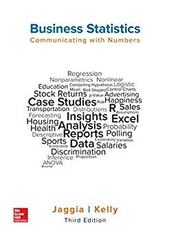 Test Bank For Business Statistics: Communicating with Numbers 3rd Edition