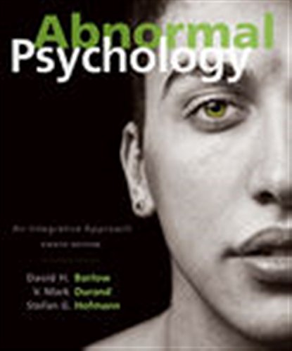 Test Bank For Abnormal Psychology: An Integrative Approach 8th Edition