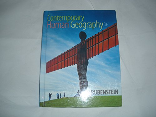 Test Bank For Contemporary Human Geography 3rd Edition