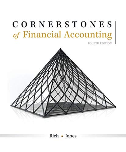 Test Bank For Cornerstones of Financial Accounting 4th Edition