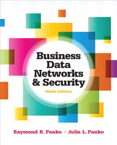 Test Bank For Business Data Networks and Security (9th Edition) 9th Edition