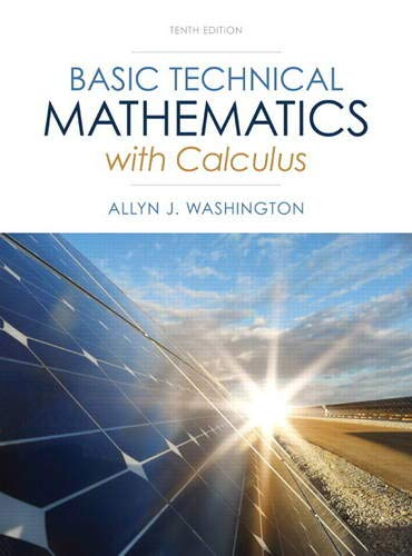 Test Bank For Basic Technical Mathematics with Calculus (10th Edition) 10th Edition