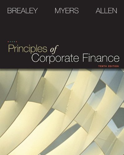 Test Bank For Principles of Corporate Finance + S&P Market Insight 10th Edition