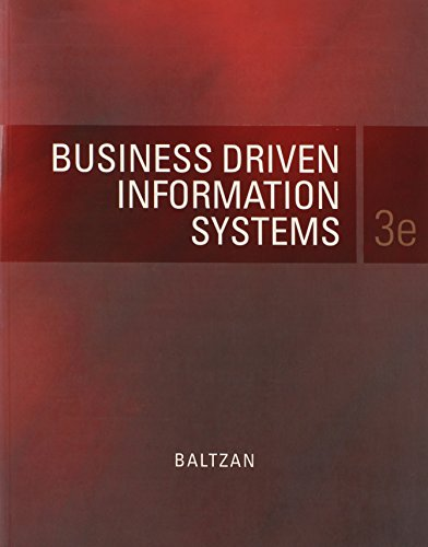 Test Bank For Business Driven Information Systems Third Edition with Connect plus Access Code Package 3rd Edition