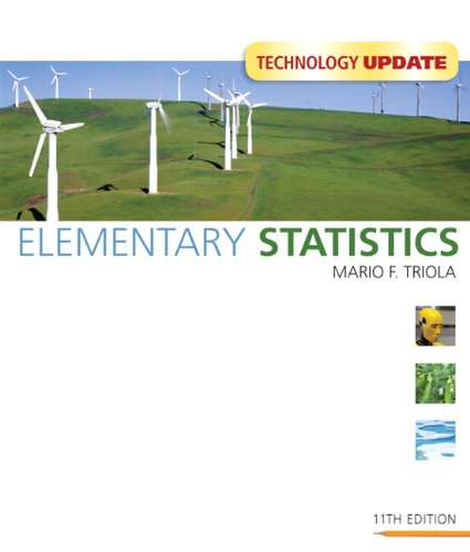 Test Bank For Elementary Statistics Technology Update (11th Edition) 11th Edition