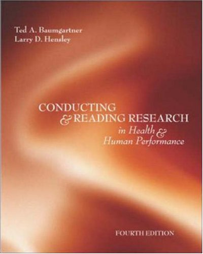 Test Bank For Conducting And Reading Research In Health and Human Performance 4th Edition