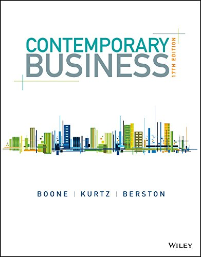 Test Bank For Contemporary Business