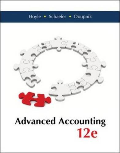 Test Bank For Advanced Accounting – Standalone book 12th Edition