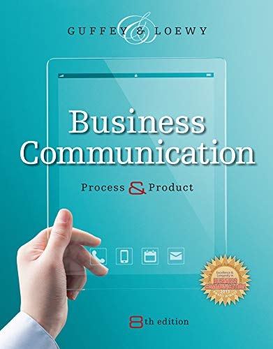 Test Bank For Business Communication: Process and Product (with Student Premium Website Printed Access Card) 8th Edition