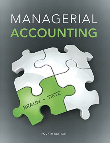 Test Bank For Managerial Accounting (4th Edition) 4th Edition