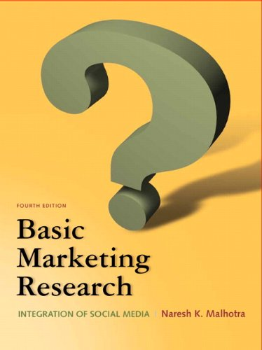 Test Bank For Basic Marketing Research (4th Edition) 4th Edition