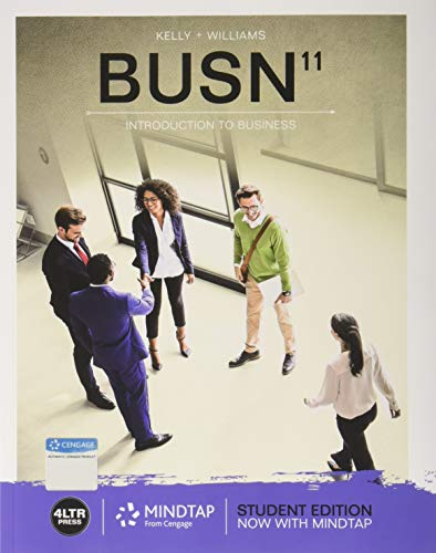 Test Bank For BUSN (with MindTap Business, 1 Term (6 Months) Printed ) 11th Edition