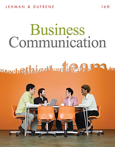 Test Bank For Business Communication, 16th Edition 16th Edition