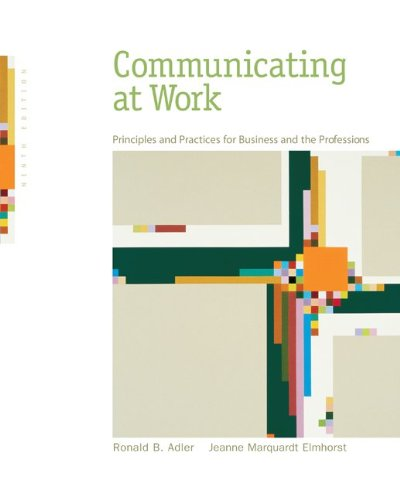 Test Bank For Communicating at Work: Principles and Practices for Business and the Professions 9th Edition