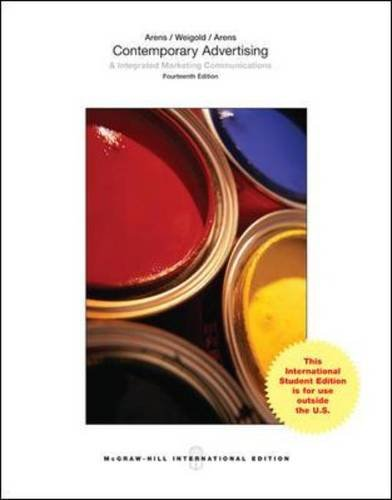 Test Bank For Contemporary Advertising and Integrated Marketing Communications, 14th Edition