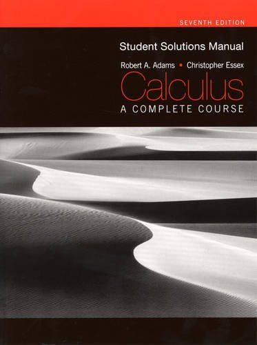 Test Bank For Student Solutions Manual for Calculus: A Complete Course, Seventh Edition 7th Edition