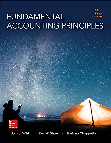 Test Bank For Fundamental Accounting Principles -Hardcover 22nd Edition