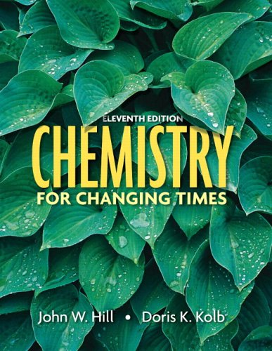 Test Bank For Chemistry for Changing Times, 11th Edition 11th Edition