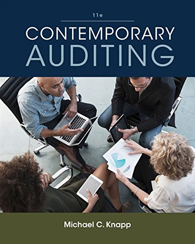 Test Bank For Contemporary Auditing 11th Edition