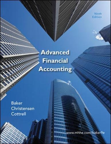 Test Bank For Advanced Financial Accounting 9th Edition