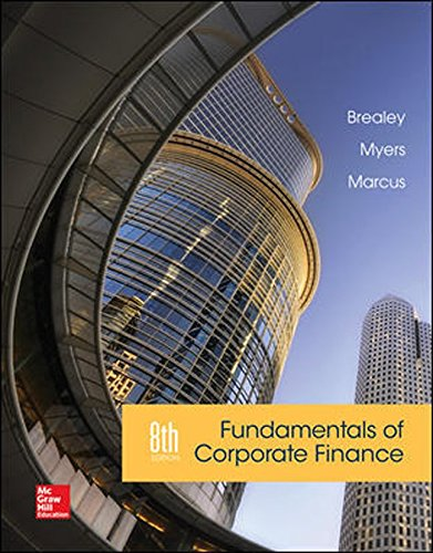 Test Bank For Fundamentals of Corporate Finance 8th Edition