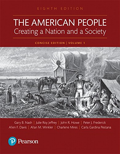 Test Bank For The American People: Creating a Nation and a Society: Concise Edition, Volume 1 (8th Edition) 8th Edition