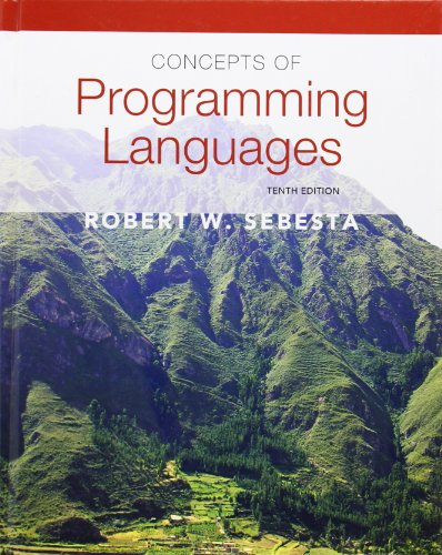 Test Bank For Concepts of Programming Languages (10th Edition) 10th Edition