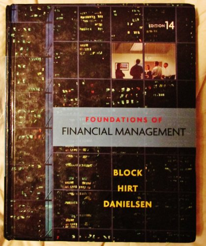 Test Bank For Foundations of Financial Management 14th Edition