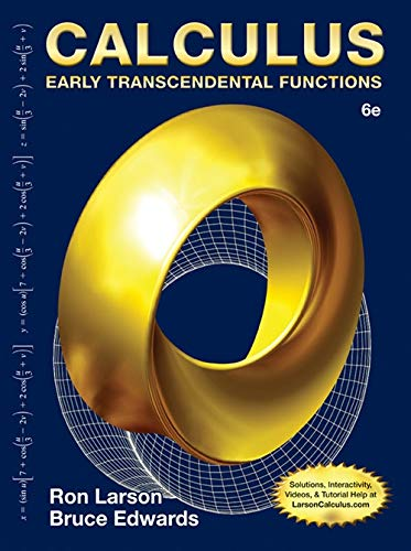 Test Bank For Calculus: Early Transcendental Functions 6th Edition