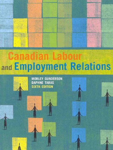 Test Bank For Canadian Labour and Employment Relations, Sixth Edition (6th Edition) 6th Edition