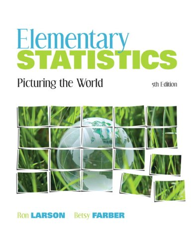 Test Bank For Elementary Statistics: Picturing the World (5th Edition) 5th Edition