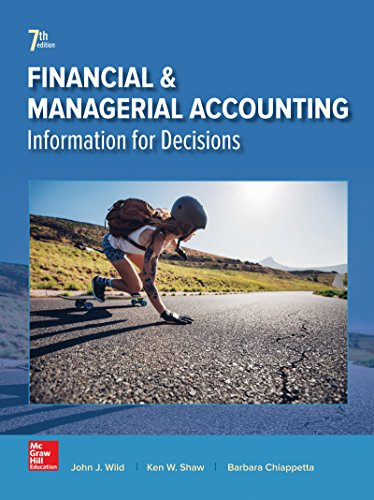 Test Bank For Financial and Managerial Accounting 7th Edition