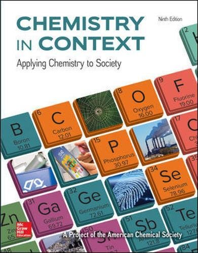 Test Bank For Chemistry in Context 9th Edition