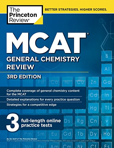 Test Bank For MCAT General Chemistry Review, 3rd Edition (Graduate School Test Preparation) 3rd Edition