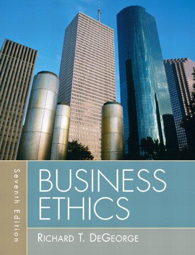 Test Bank For Business Ethics (7th Edition) 7th Edition