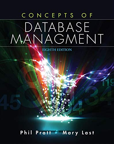 Test Bank For Concepts of Database Management 8th Edition