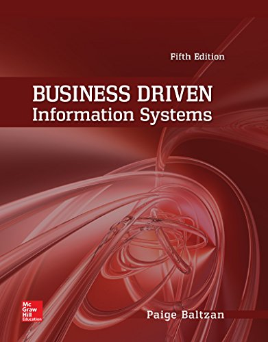 Test Bank For Business Driven Information Systems 5th Edition