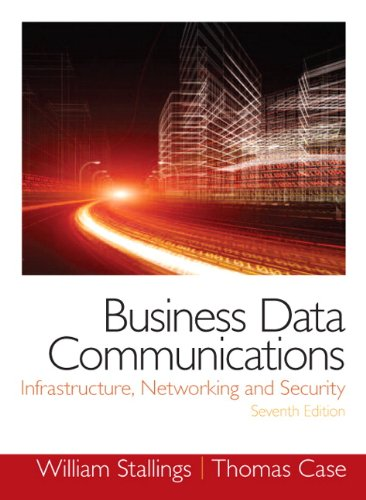 Test Bank For Business Data Communications- Infrastructure, Networking and Security (7th Edition) 7th Edition