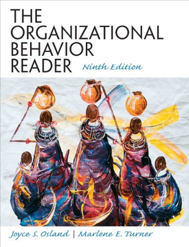 Test Bank For The Organizational Behavior Reader (9th Edition) 9th Edition