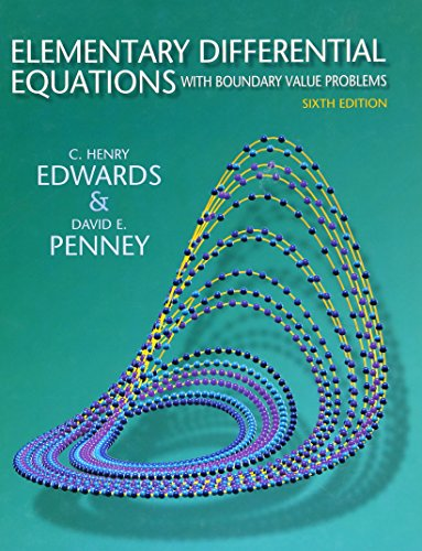 Test Bank For Elementary Differential Equations with Boundary Value Problems (6th Edition) 6th Edition