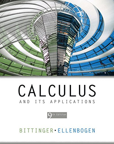 Test Bank For Calculus and Its Applications (9th Edition) 9th Edition