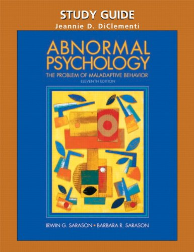 Test Bank For Abnormal Psychology: the problems of maladaptive behavior eleventh edition 11th Edition