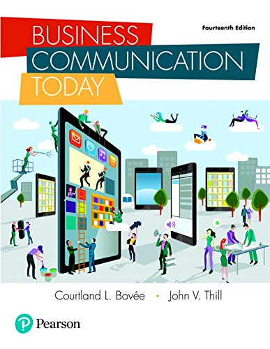 Test Bank For Business Communication Today (14th Edition) 14th Edition