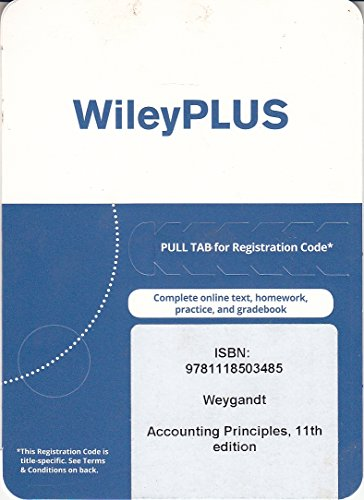 Test Bank For Accounting Principles, 11th edition WileyPLUS Card 11th Edition
