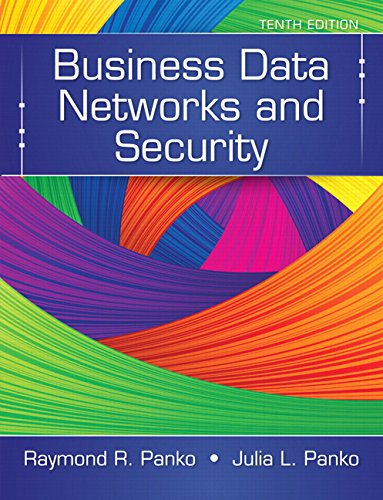 Test Bank For Business Data Networks and Security (10th Edition) 10th Edition