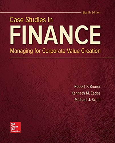Test Bank For Case Studies in Finance (The Mcgraw-hill Education Series in Finance, Insurance, and Real Estate) 8th Edition