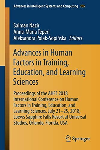 Test Bank For Advances in Human Factors in Training, Education, and Learning Sciences (Advances in Intelligent Systems and Computing) 1st ed. 2019 Edition