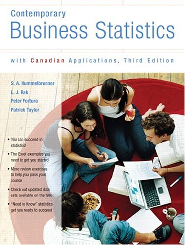 Test Bank For Contemporary Business Statistics with Canadian Applications, Third Canadian Edition (3rd Edition) 3rd Edition