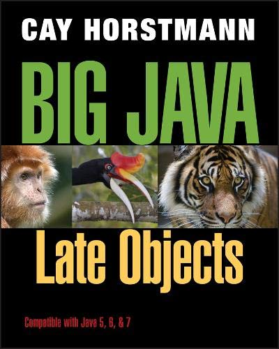 Test Bank For Big Java: Late Objects 1st Edition