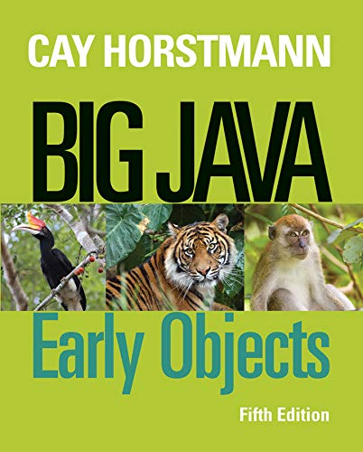 Test Bank For Big Java: Early Objects 5th Edition